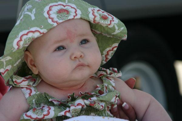 napolju sa bebom