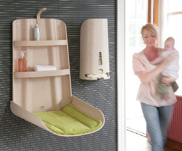 zidni sto za presvlacenje bebe