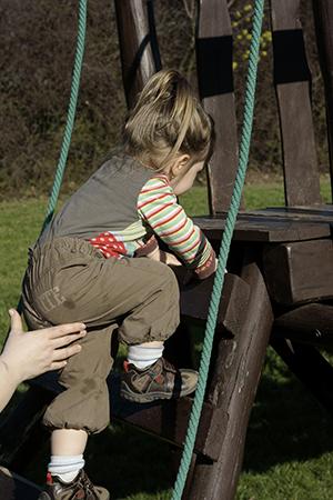 Sa malim detetom na igralištu